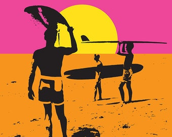 Huntington Beach, California - The Endless Summer - Original Movie Poster (Art Prints available in multiple sizes)