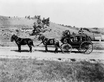 Stagecoach at Yellowstone National Park Photograph (Art Prints available in multiple sizes)