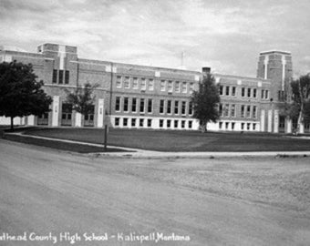 Kalispell, Montana - Flathead County High School Photograph (Art Prints available in multiple sizes)