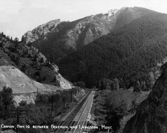 Montana - Rocky Canyon between Bozeman and Livingston Photograph (Art Prints available in multiple sizes)