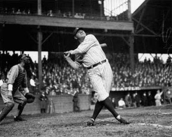 Babe Ruth at Dugdale Park Photograph (Art Prints available in multiple sizes)