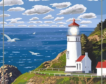 Heceta Head Lighthouse - Oregon Coast (Art Prints available in multiple sizes)