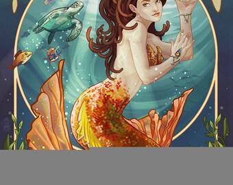 Florida Keys - Mermaid (Art Prints available in multiple sizes)