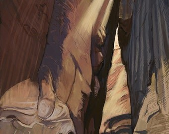 Zion National Park - The Narrows (Art Prints available in multiple sizes)
