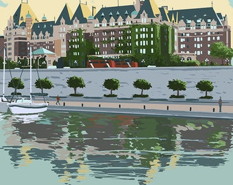 The Empress Hotel - Victoria, British Columbia, Canada (Art Prints available in multiple sizes)