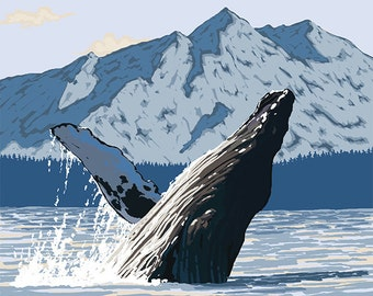 Humpback Whale - Petersburg, Alaska (Art Prints available in multiple sizes)