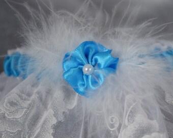 Turquoise blue garter
