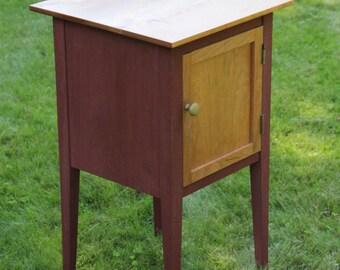 small liquor cabinetend table w cherry top u0026 door