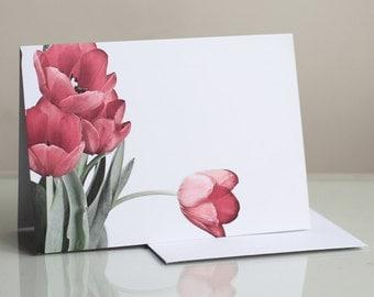 Photo greeting card. Floral greeting card. Flower greeting card. Tulips Photographic Greeting Card. Blank card