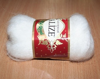 Kid mohair. Thin yarn. White mohair yarn