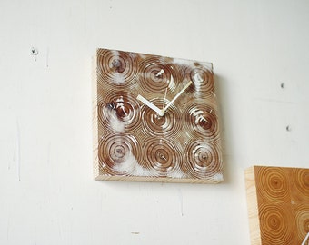 Wall Clock 9'x9' / No.13 / modern wood clock