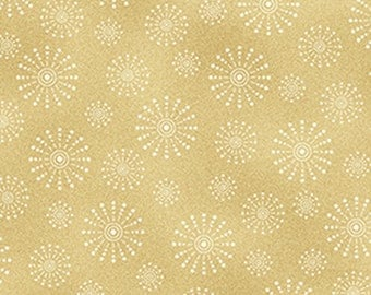 One Yard Santa's Here - Candle Light in Toast - Cotton Quilt Fabric - Inspired by Nancy Halvorsen for Benartex - 6076-77 (W2984)