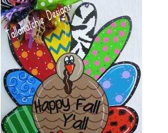 Turkey Door Hanger Thanksgiving Turkey Door Hanger Wood Turkey Door Hanger