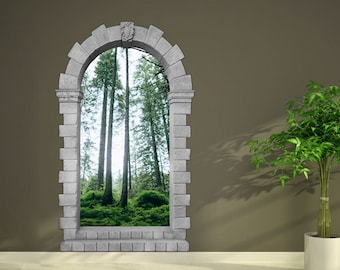 D Window Wall Decal SEA SUNSET Wall Decal For Living - 3d window wall decals