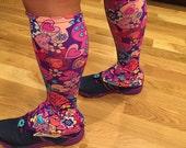 Calf Gaiter - Choose your fabric pattern