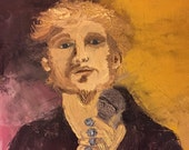 Layne Staley, Alice in Chains, oil painting, rock grunge, dramatic oil painting on canvas 12x12 canvas, palette knife painting, wall art