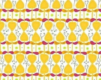 Windham Fabrics Enchanted 39549-6 Yellow Topiary by Sarah Fielke
