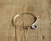 Single Strand Photo Charm Bracelet, Gold Filled & Sterling Silver Wire