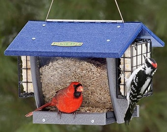 Duncraft Cardinal Shield Hopper & Suet Feeder