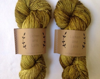 Shrub ~ Lichen and Lace Hand Dyed Yarn