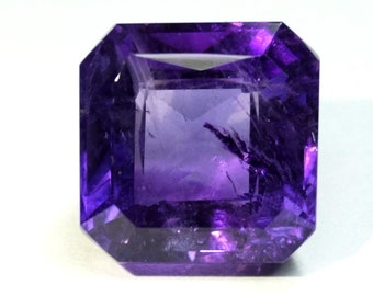 African Amethyst Square Octagon 11mm
