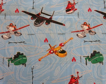 "1/2 yard of 100% cotton ""airplane"" fabric"