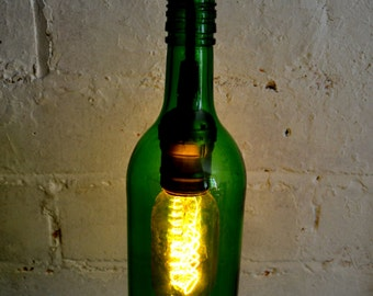 Handmade Bottle Lamp - Industrial lighting