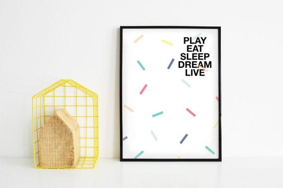 Poster stampato con grafica e testo for Ikea cornici 50x70