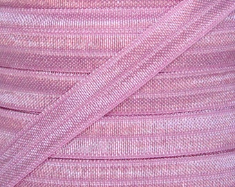 Wild Rose Fold Over Elastic - Elastic For Baby Headbands and Hair Ties - 5 Yards of 3/8 inch FOE