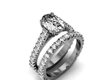 18K White Gold Diamond Bridal Set 1.25ct. tw.