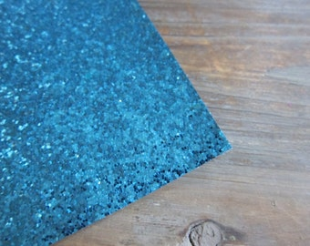 Glitter Material Turquoise 8X10 sheet
