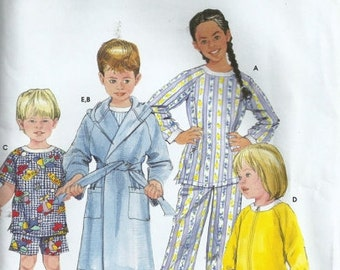 Simplicity 5874 - Toddlers' and Child's Sleepwear and Robe - RETIRED - Sewing Pattern