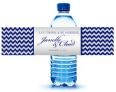 40 Custom Water Bottle Labels ready to apply for Wedding, Bat Mitzvah, Sweet Sixteen, Wedding Shower, Quince, Welcome bag, Hospitality Bags