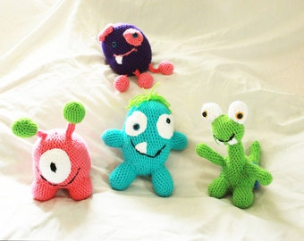 Build Your Own Crochet Monster, Amigurumi Monster, Crochet Monster, Amigurumi Monster, Stuffed Monster, Amigurumi Alien, Stuffed Alien