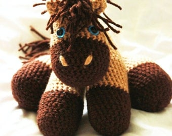 Horse Amigurumi, Crochet Horse, Horse Lovey, Stuffed Horse, Horse Plush, Horse Stuffy, Horse Stuffed Animal