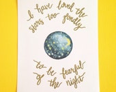I have loved the stars too fondly/Print