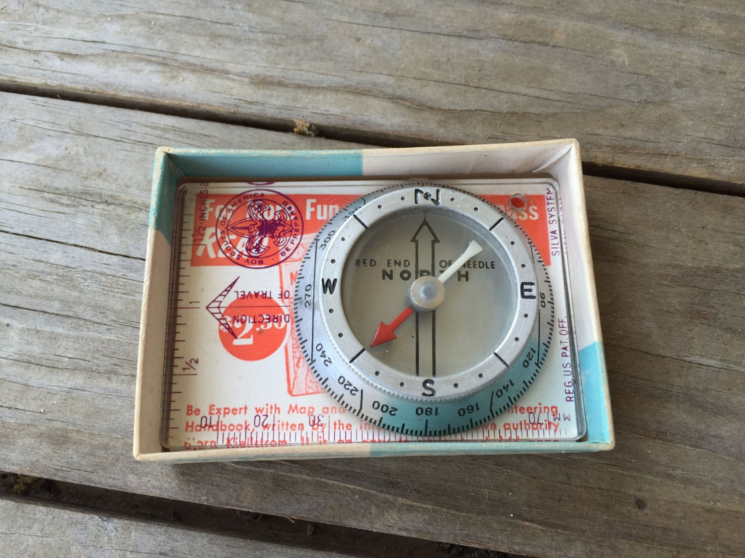 Vintage Boy Scout Compass 1950s Pathfinder Camping Gear