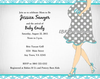 Modern Chic Baby Shower Invitation