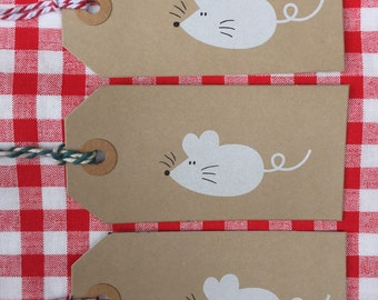 Monty Mouse Gift Tag