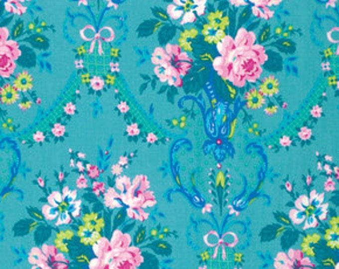 Caravelle Arcade Daisy Blue - 1/2yd