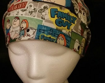 Family Guy Comics Euro Style Surgical Scrub Hat Cap