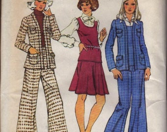 Simplicity Pattern 5856 Misses Top, Jacket, Skirt and Pants Size 10