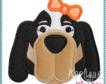 Personalized Football Hound Dog Face Applique Shirt or Onesie
