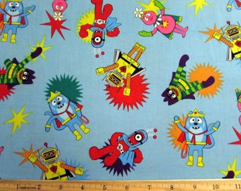 Per Yard, Yo Gabba Gabba  Fabric From Hoffman