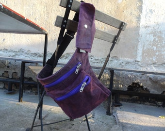 Waist Pouch Hip Belt Bag Waxed Canvas   Festival Bag Fanny Pack Travel Belt Canvas