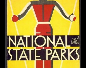 "11 x 14"" Canvas art print~ National and State Parks, sports"