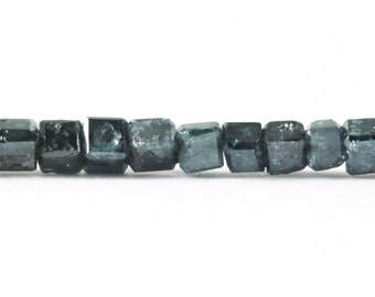 Polished Diamond Beads Dark Blue 3D Cube Diamonds, Your Choice of 1, 2, 3, 4, 5, or 10 Luxe Cut and Polished Diamonds 1.4 to 2mm KJ
