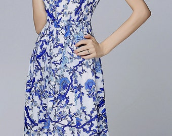 Women dress/ Dress/knee length/summer dress/formal dress/elegant dress/long prom dress/evening dress/party dress/China style/porcelain