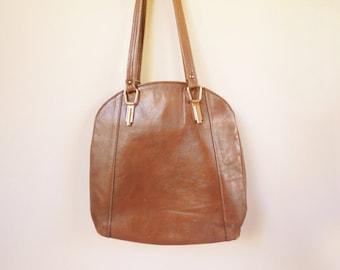 vintage brown leather letisse indie bag purse