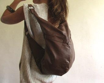 Turle light brown leather bag